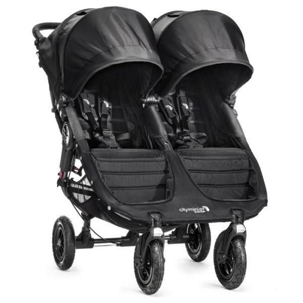 Baby Jogger City Mini Double GT Syskonvagn (Svart Black) - Tvillingvagn