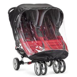 Baby Jogger Regnskydd till City Mini Tvillingvagn - regnskydd barnvagn