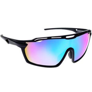 Bicycle Glasses - Matt Black/Blue Mirror Lens - Aeroclub - Köp online - sportglasogon