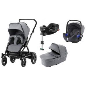 Britax Go Big 2 duovagn + i-size babyskydd + isofixbas - Barnvagnspaket