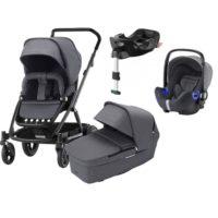 Britax Go Next 2 duovagn + i-size babyskydd & bas - Duovagn