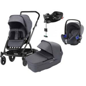 Britax Go Next 2 duovagn + i-size babyskydd & bas - Barnvagnspaket