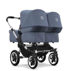 Donkey² Tvillingvagn Styled by You Blå Melange - Tvillingvagn