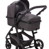 Fillikid Panther Duovagn med Babyskydd (Grå) - Duovagn