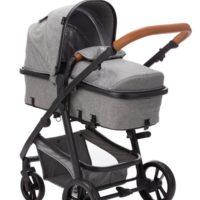 Fillikid Panther Duovagn med Babyskydd (Gråmelerad) - Duovagn