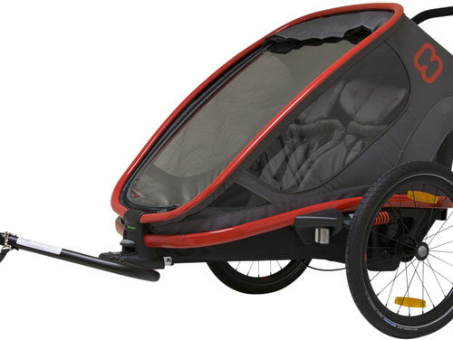 Hamax Outback Bike Trailer red/charcoal - Hamax Cykelvagnar