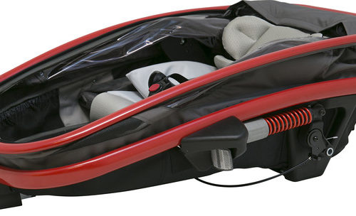 Hamax Outback One Bike Trailer red/charcoal - Hamax Cykelvagnar