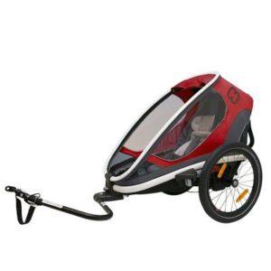 Hamax Outback One Cykel och Barnvagn (röd/grå/charcoal) - Cykelvagn