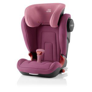 Kidfix² S Booster Seat Wine Rose - Bilbarnstolar