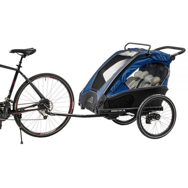 Nordic Cab Barn- och Cykelvagn Urban 2 i 1 (Blå) - Cykelvagn