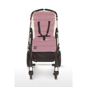 Outlook sittdyna zig-zag röd - Sittdyna barnvagn