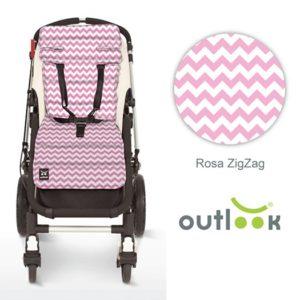 Outlook sittdyna zig-zag rosa - Sittdyna barnvagn