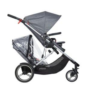 Phil&Teds Voyager Regnskydd för Syskonsits - regnskydd barnvagn