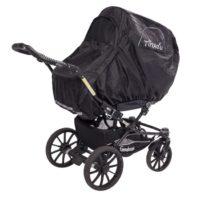 Regnskydd med Myggnät Svart - Myggnät till barnvagn