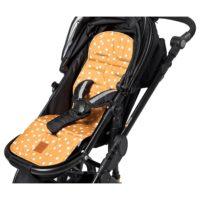 Sittdyna Gul med Prickar - Sittdyna barnvagn