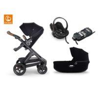 Stokke Trailz 2.0 duovagn + babyskydd & bas - Barnvagnspaket