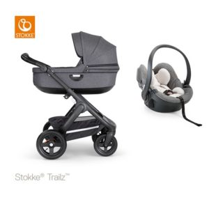 Stokke Trailz 2.0 liggvagn + babyskydd