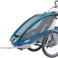 Thule Chariot CX1 Blue inkl. Cykelkit + Kit för Längdskidåkning & Vandring - Multisportvagn