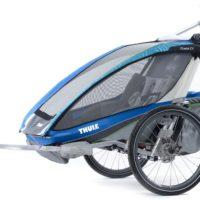 Thule Chariot CX2 Blue inkl. Cykelkit + Kit för Längdskidåkning & Vandring - Multisportvagn