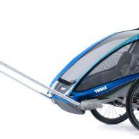 Thule Chariot CX2 Blue med Cykelkit - Multisportvagn
