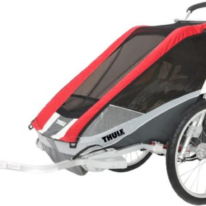 Thule Chariot Cougar 1 Red inkl. Cykelkit - Multisportvagn