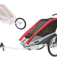 Thule Chariot Cougar 1 med Cykel- och Joggingkit