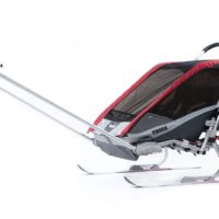 Thule Chariot Cougar 2 Red inkl. Cykelkit - Multisportvagn