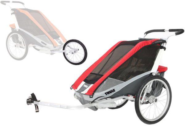 Thule Chariot Cougar 2 med Cykel- och Joggingkit