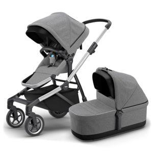 Thule Sleek Barnvagn med Liggdel Grå - Barnvagnar från Thule