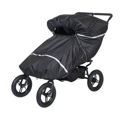 Tullsa Regnskydd Tvilling / Syskonvagn med två sittdelar - regnskydd barnvagn