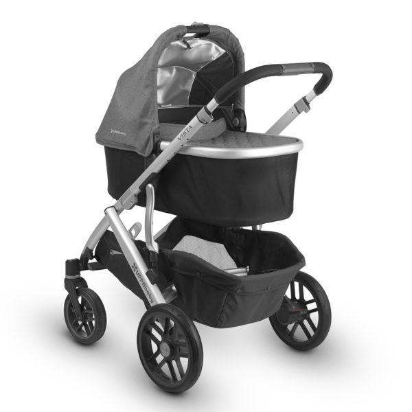 VISTA Barnvagn Jordan Svart/Grå Melange - Barnvagnspaket