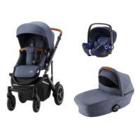 Britax Smile 3 duovagn + babysafe2 i-size babyskydd - paket