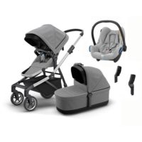 Thule Sleek duovagn + Maxi-Cosi Cabriofix babyskydd 0-13 kg & adapter - paket